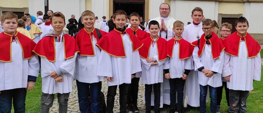 Ministranci na Dniu Skupienia w Krzeszowie