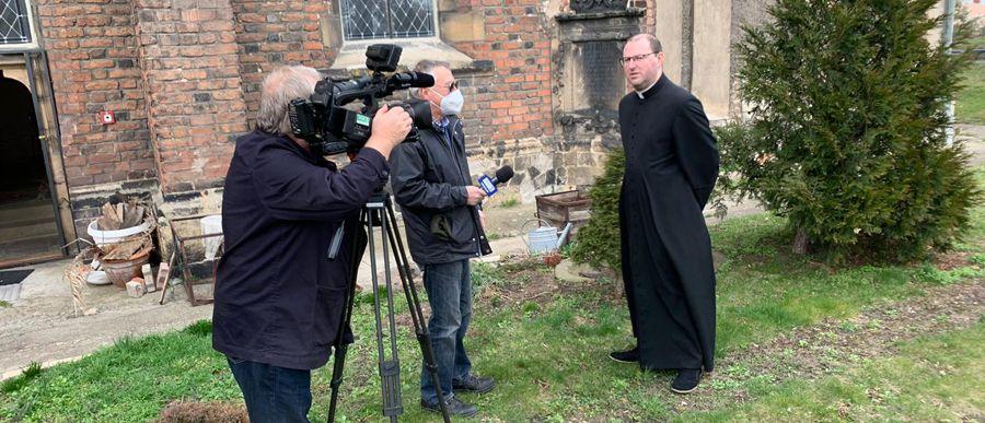 Telewizyjna relacja z katedry
